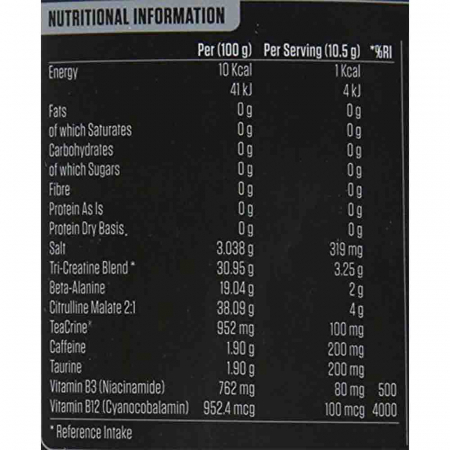 A.B.E Pre-Workout All Black Everything, Applied Nutrition, 315g3
