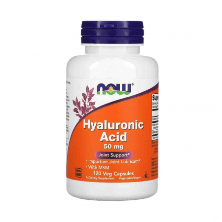 Acid Hialuronic, Hyaluronic Acid cu MSM, 50mg, Now Foods0