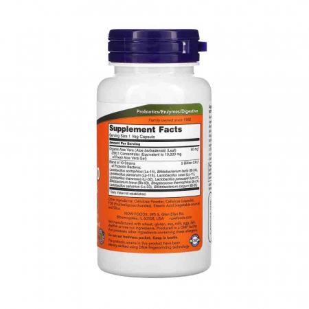 Aloe 10,000 & Probiotics, Now Foods, 60 capsule2