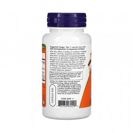 Aloe 10,000 & Probiotics, Now Foods, 60 capsule1