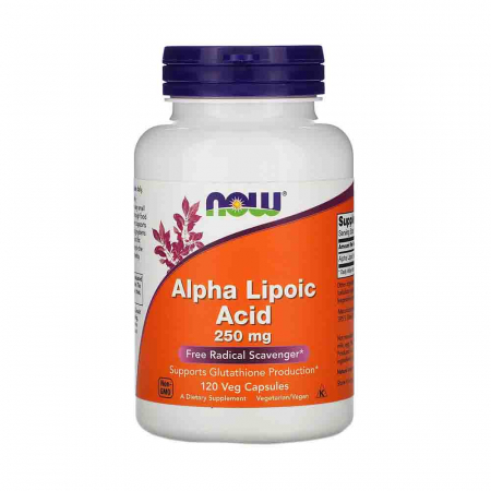 Alpha Lipoic Acid ALA, 250mg, Now Foods0