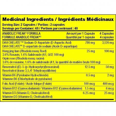 Anabolic Freak AF, Pharmafreak, 96 capsule5