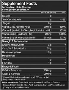 Assault Energy + Endurance, MusclePharm, 345g1