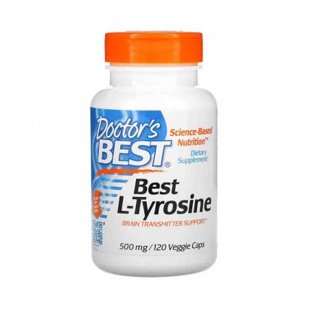 Best L-Tyrosine (Tirozina), 500mg, Doctor's Best, 120 capsule0
