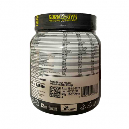 Blackweiler Shred Pre-Workout, Olimp Nutrition, 480g1