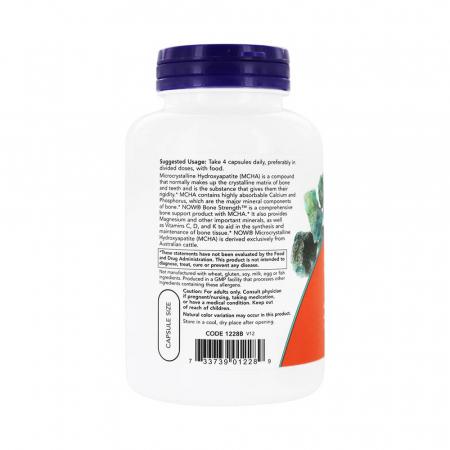 Bone Strength (Oase Puternice), Now Foods, 120 capsule2