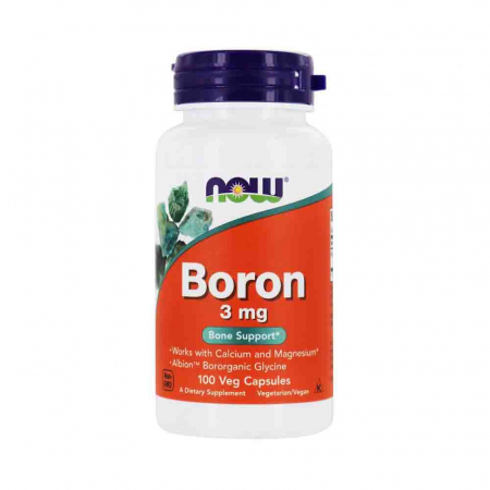 Boron (Bor) Mineral, 3 mg, Now Foods, 100 capsule0
