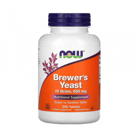 Brewer's Yeast Tablets (Drojdia de bere), Now Foods, 200 tablets0