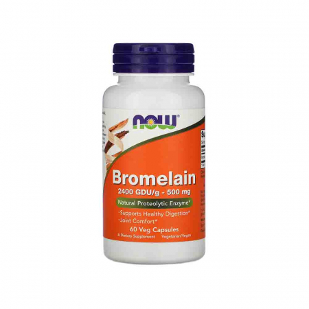 Bromelain (Enzima), 500mg, Now Foods, 60 capsule0