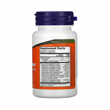 ChewyZymes, (Enzime Digestive Masticabile), Now Foods, 90 drajeuri2