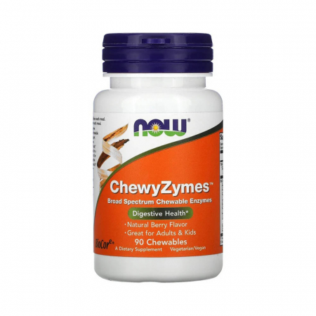 ChewyZymes, (Enzime Digestive Masticabile), Now Foods, 90 drajeuri0