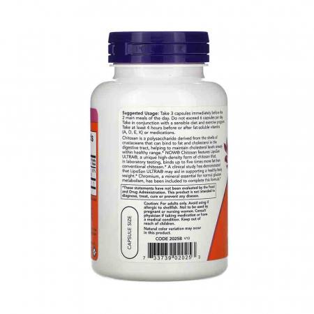 Chitosan, 500mg Plus Chromium, Now Foods, 120 capsule1