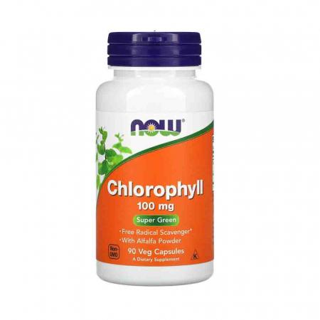 Chlorophyll (Clorofila), 100mg, Now Foods, 90 capsule0