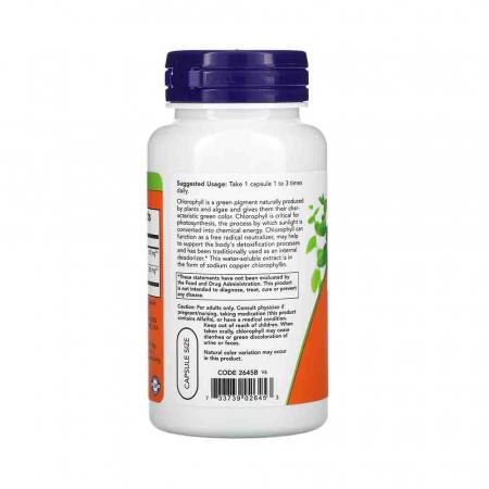 Chlorophyll (Clorofila), 100mg, Now Foods, 90 capsule2