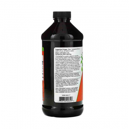 Chlorophyll Liquid (Clorofila), Now Foods, 473 ml1