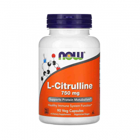 L-Citrulline, 750mg, Now Foods, 90 capsule0