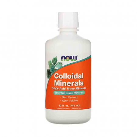 Colloidal Minerals Liquid, (Minerale Coloidale), Now Foods, 946ml0
