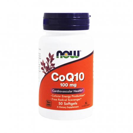 CoQ10 (Coenzima Q10) 100 mg, Now Foods, 50 softgels0