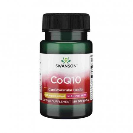 CoQ10 (Coenzima Q10), 100mg, Swanson, 50 softgels