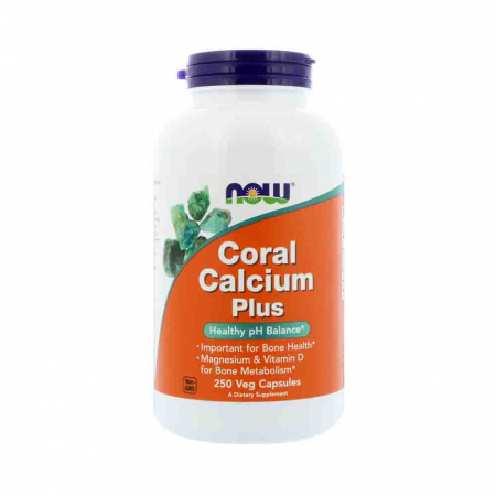 Calciu Coral Plus Magneziu si D3, Now Foods, 250 capsule0