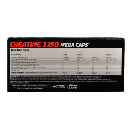 Creatine Mega Caps 1250, Olimp Sport Nutrition1