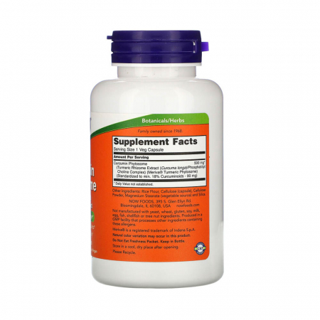 Curcumin BIO Phytosome, 500mg, Now Foods, 60 capsule2