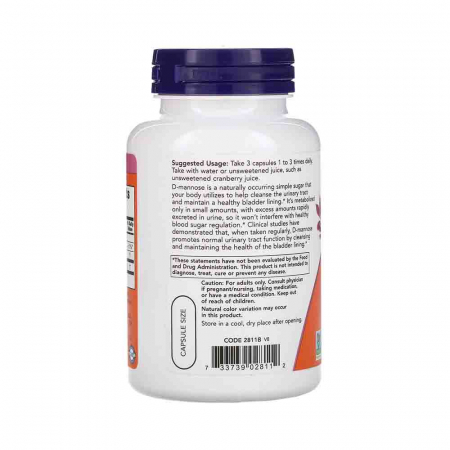 D-Mannose, 500mg, Now Foods1