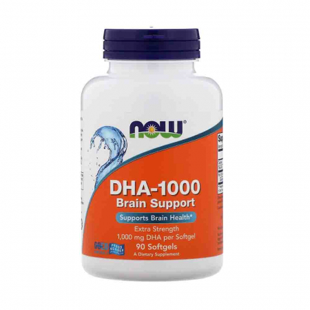 DHA-1000 Brain Support (Omega 3), Now Foods, 90 softgels