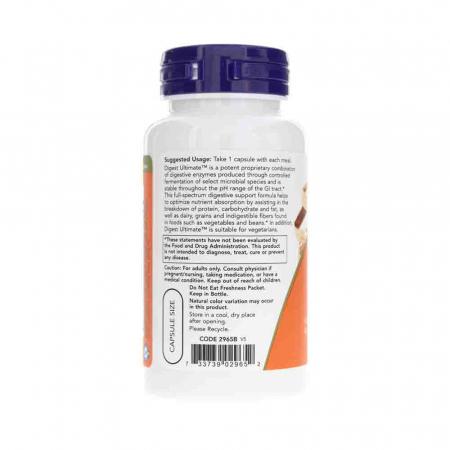 Digest Ultimate (Enzime cu Spectru Complet), Now Foods, 60 capsule1