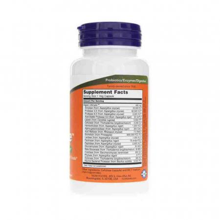 Digest Ultimate (Enzime cu Spectru Complet), Now Foods, 60 capsule2