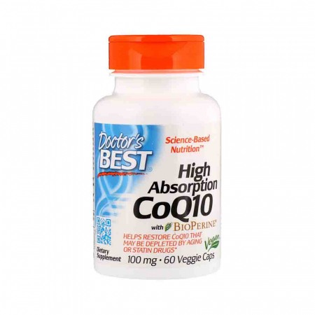 High Absorption CoQ10 with BioPerine, Doctor's Best, 60 Veggie Caps0