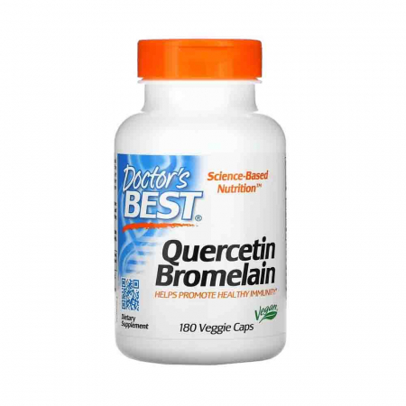 Quercetin with Bromelain (Antioxidant), Doctor's Best, 180 capsule0