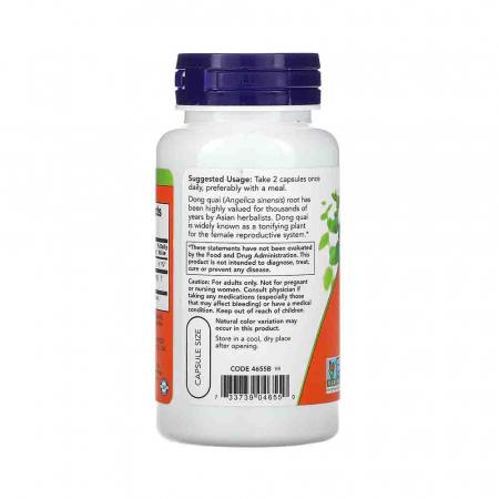 Dong Quai Organic (Angelica Sinesis) 520mg, Now Foods, 100 capsule1