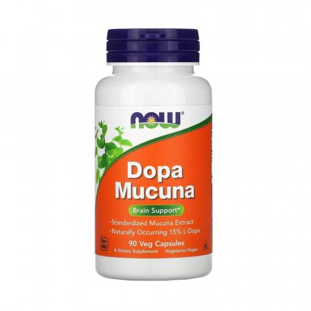 Dopa Mucuna (Dopamina), Now Foods, 90 capsule0