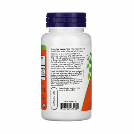 Dopa Mucuna (Dopamina), Now Foods, 90 capsule1