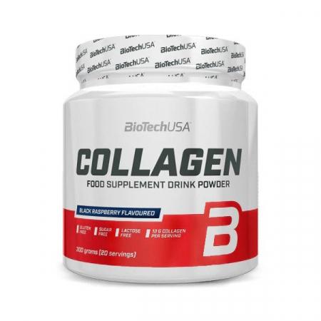 Colagen cu Acid Hialuronic, BiotechUSA, 300g