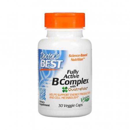 Fully Active B Complex with Quatrefolic, Doctor's Best, 30 capsule0