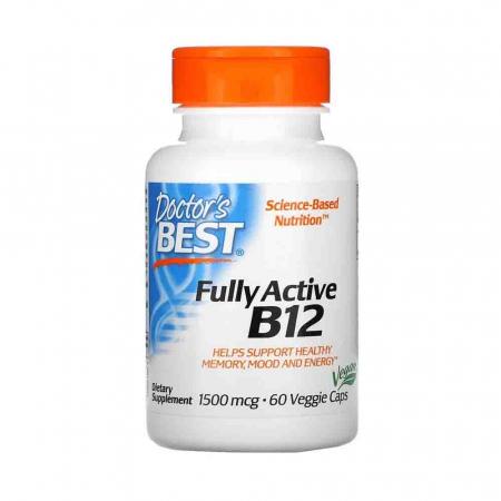Fully Active B12, 1500mcg, Doctor's Best, 60 capsule0