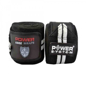 Bandaje pentru genunchi Knee Wraps, Power System, Cod: 37004