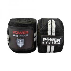 Bandaje pentru genunchi Knee Wraps, Power System, Cod: 37005
