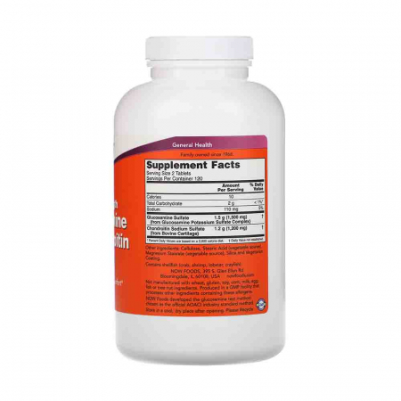 Glucozamină Condroitină, Extra Strength, Now Foods2