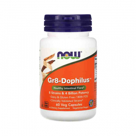 Gr8-Dophilus, Now Foods, 60 capsule0