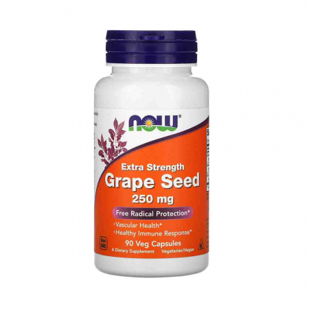 Grape Seed (Extract Seminte Struguri) 250mg, Now Foods, 90 capsule0