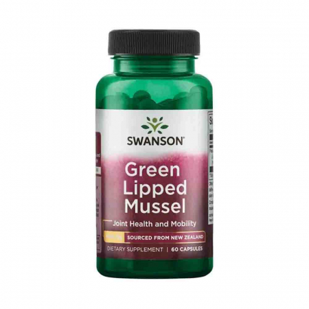 Green Lipped Mussel (Extract Scoica Cochilie Verde), 500mg, Swanson, 60 capsule