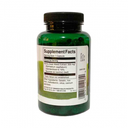 Horny Goat Weed Extract, 500mg, Swanson, 120 tablete2