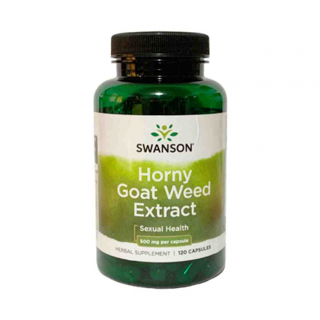 Horny Goat Weed Extract, 500mg, Swanson, 120 tablete3