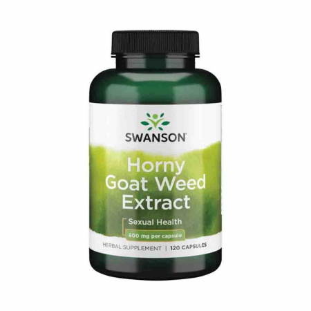 Horny Goat Weed Extract, 500mg, Swanson, 120 tablete0