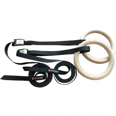 Inele de Gimnastica (CrossFit) GYMNASTIC RINGS, Power System, Cod: 40480