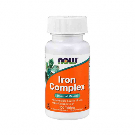 Iron Complex, Fier, Now Foods, 100 tabs0