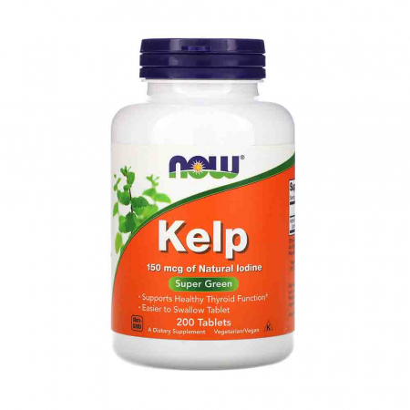 Kelp, Iodina Organica, 150mcg, Now Foods, 200 tablete0